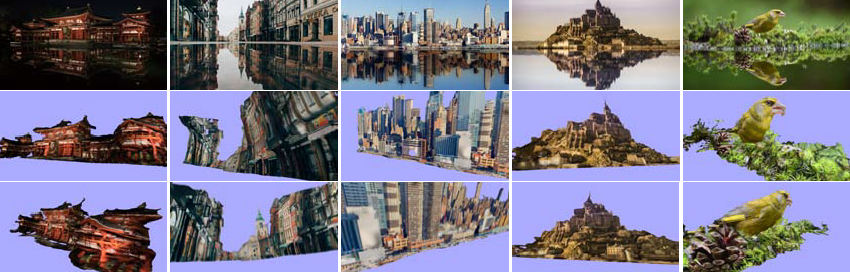 water reflection results image